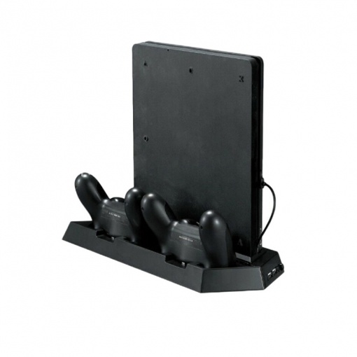 2in1 PS4 Slim Cooling Fan Stand Holder with DualShock Dual Charger Dock Station