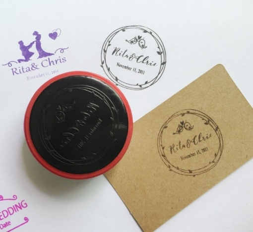 Personalized Custom Made Rubber Stamp Photo & Name Stamp