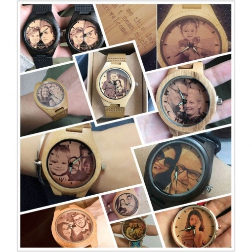 Personalized Custom Made Round Wooden Watch