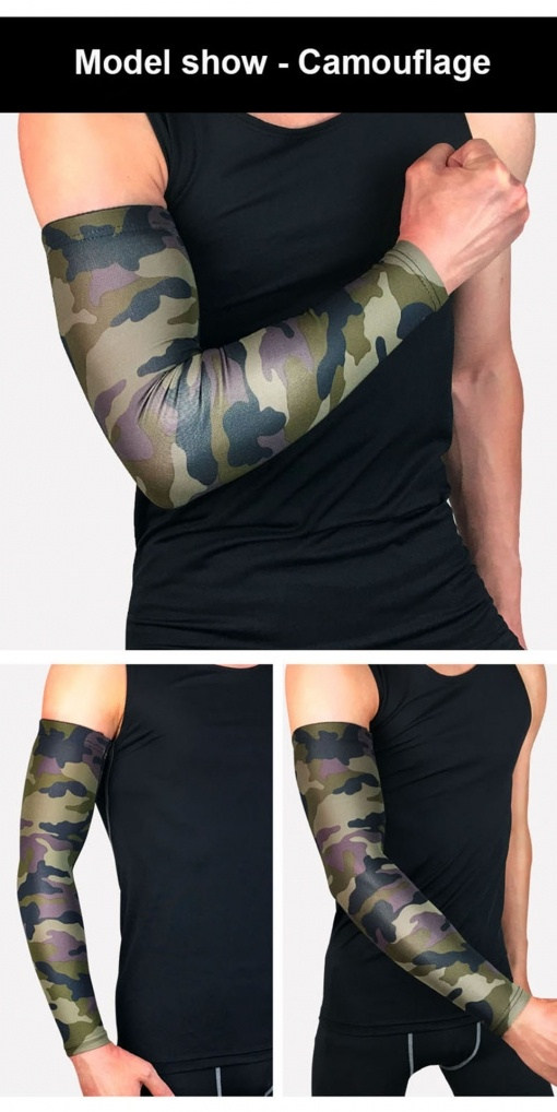 Cooling Arm Sleeves Cover UV Sun Protection For Outdoor Sports