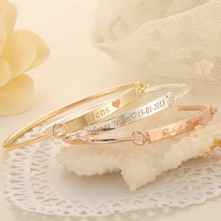 Personalized Engraved Women Bracelet Gift