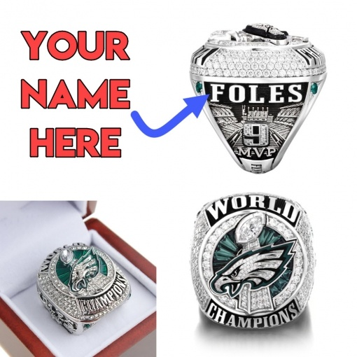 Personalized Philadelphia Eagles Super Bowl Ring