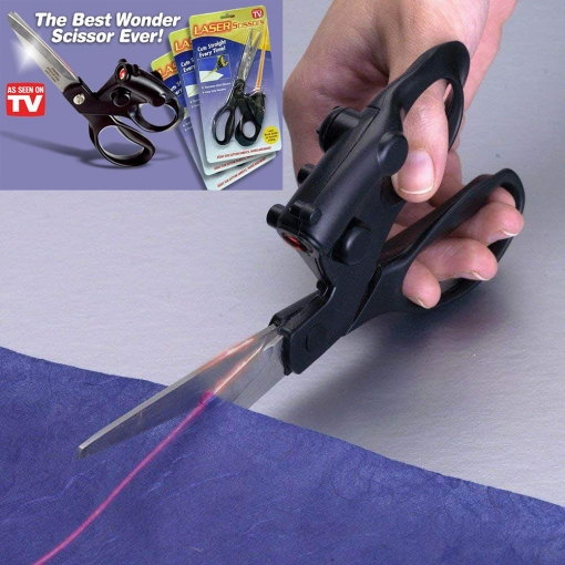 Laser Guided Scissors Tailor Sewing Cut Lazer Shears Professional Hair Grooming