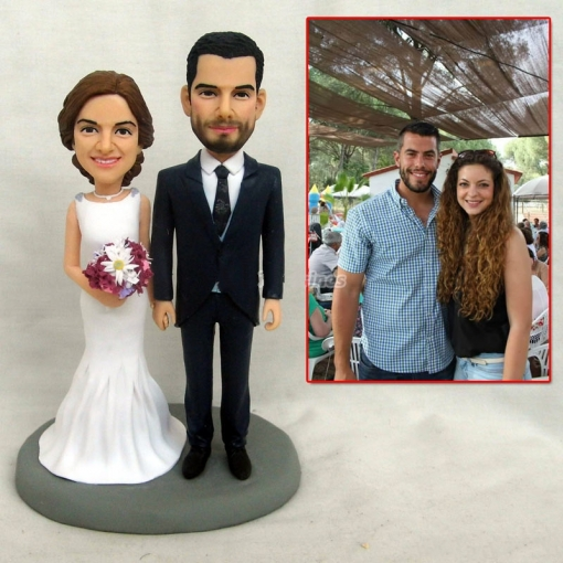 Personalized Clay Miniature Figures Toy Cake Decor Handmade Sculpture Photo Gift